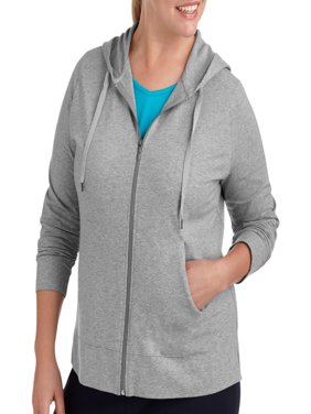 Womens Plus Size Dri More Zip Up Hoodie
