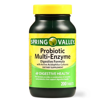 - Spring Valley Probiotic Multi-Enzyme Digestive Formula Tablets, 200 Ct