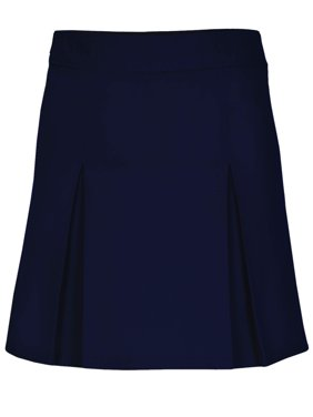 Girls Plus Pleat Front Scooter Skirt School Uniform Approved (Big Girls)