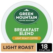 Green Mountain Coffee Breakfast Blend, Keurig K-Cup Pod, Light Roast, 18 Ct