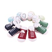 Cute Newborn Baby Shoelaces Patterned Ankle Socks for 0-6 Months Unisex Baby Girls Boys Cotton Socks 5 Pairs/Set