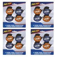 (4 Pack) Mini Nerf Disc Shooter Party Favors, 4ct