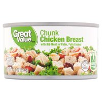 (3 Pack) Great Value Premium Fully Cooked Chunk Chicken, 12.5 oz