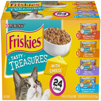 Friskies Gravy Wet Cat Food Variety Pack; Tasty Treasures With Cheese - (24) 5.5 oz. Cans