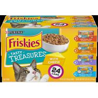 Friskies Tasty Treasures Adult Wet Cat Food Variety Pack - Twenty-Four (24) 5.5 oz. Cans