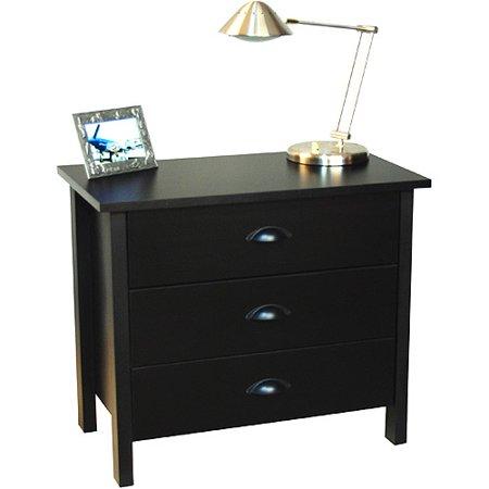 Nouvelle 3 Drawer Dresser, Black