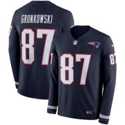 Rob Gronkowski New England Patriots Nike Therma Long Sleeve Jersey - Navy 8ead5b813