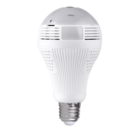 360°Bulb Camera Security Mini Wireless Lamp Cameras Fisheye Panoramic Bulb HD 960P WIFI Network Remote (Best Open Source Network Monitoring System)