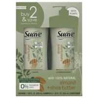 Suave Professionals Moisturizing Shampoo and Conditioner, Almond + Shea Butter, 28 oz, 2 count