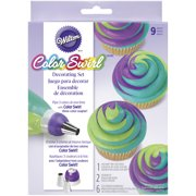 Wilton ColorSwirl 3-Color Coupler Decorating Kit, 9 pc