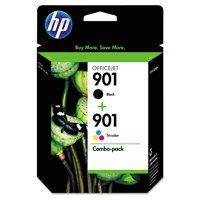 HP 901 Black & Tri-color Original Ink Cartridges, 2 pack (CN069FN)