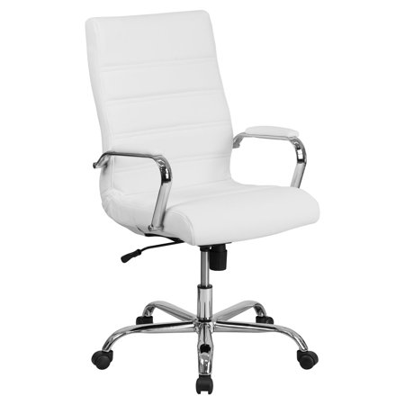 Flash Furniture High Back White Leather Executive Swivel Office