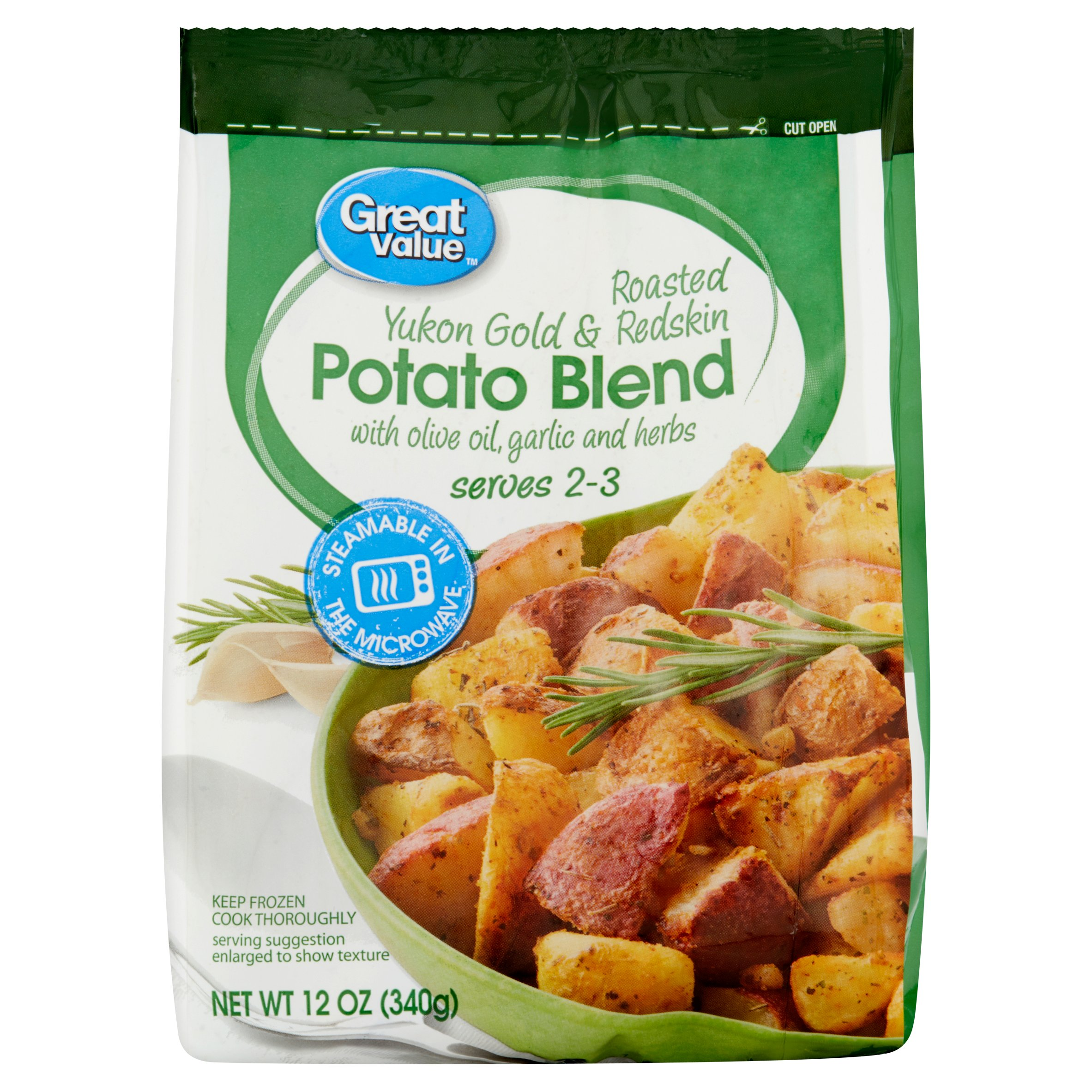 Great Value Roasted Yukon Gold & Redskin Potato Blend, 12 oz