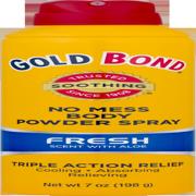 GOLD BOND No Mess Body Powder Spray Fresh Scent, 7oz