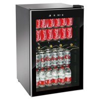 RCA 110 Can & 4 Bottle Beverage Center and Wine Cooler, Black