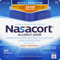 Nasacort Multi-Symptom 24hr Nasal Allergy Relief Spray, 60ct