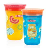 Nuby Wonder Cup Spoutless Sippy Cup - 2 pack