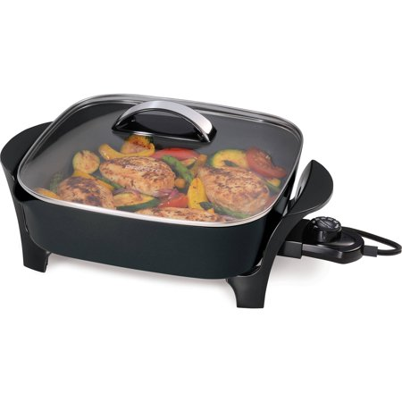 Presto 12 Inch Electric Skillet With Glass Cover 07117