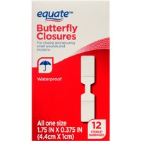 (4 Pack) Equate Butterfly Closures, 12 Ct