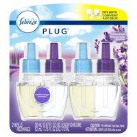 Febreze Plug Air Freshener Scented Oil Refill, Mediterraenan Lavender, 2 Count