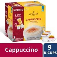 Gevalia Cappuccino Espresso Coffee K-Cup Pods 9 count