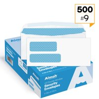 #9 Double Window Security Tinted Gummed Envelopes - 3‐7/8 x 8‐7/8 - 500 count (30129)