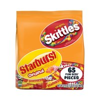 Skittles & Starburst Fruity Candy, Fun Size Variety Mix Bag, 31.9 Oz