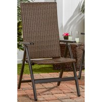Greendale Home Fashions Hand Woven PE Wicker Outdoor Reclining Chair