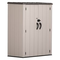 Lifetime 52 cubic feet Vertical Storage Shed, Desert Sand