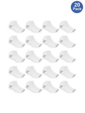 Athletic Works Men's Big & Tall Athletic Cushioned Low Cut Socks Value 20 Pack