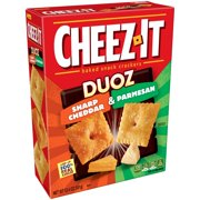 (2 Pack) Kelloggs Cheez It Duoz Baked Snack Crackers, 12.4 oz