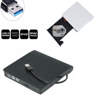 Whizzotech Slim External USB 3.0 DVD ROM RW CD Writer Drive Burner Reader Player for Apple Macbook Pro Air iMAC,Windows Laptop PC (White)