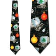 Computer Christmas Necktie Mens Tie