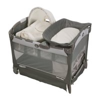 Graco Pack 'n Play Cuddle Cove LX Playard with Vibrating Baby Seat, Glacier