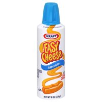 (2 Pack) Nabisco Easy Cheese American Pasteurized Cheese Snack, 8 oz