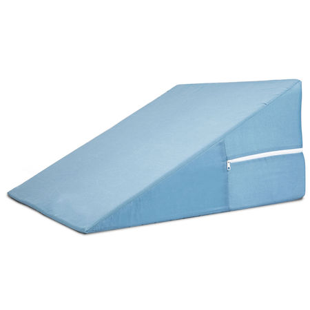 DMI Bed Wedge Pillow for Sleeping, Supportive Foam Triangle Pillow for Head, Foot, or Leg Elevation, Sleeping Wedge Pillow for Acid Reflux, 24 in L x 12 in