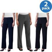 Women s Classic Career Suiting Pant 2 Pack Value Bundle 33125e85da9