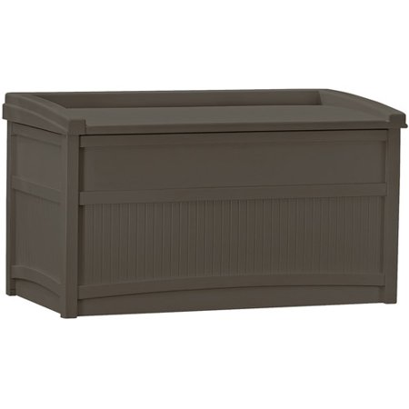 Suncast 50 Gallon Java Resin Storage Seat Deck Box DB5500J ()