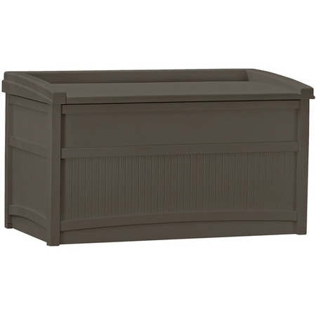 Suncast 50 Gallon Java Resin Storage Seat Deck Box -