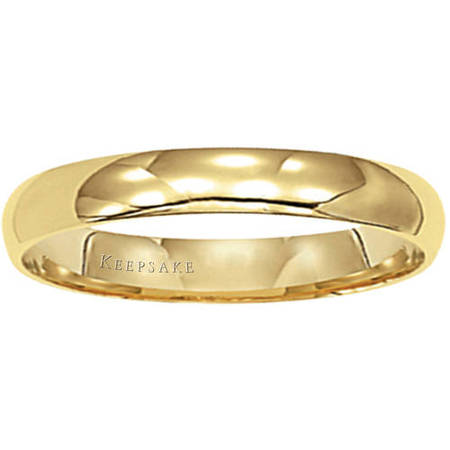 14kt Yellow Gold Wedding Band, 4mm 4mm Hammered Band Ring