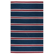 Gatney Rugs Highway Area Sg3044 Contemporary Navy Lines Stripes Bars Banded Rug