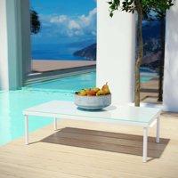 Modway Harmony Outdoor Patio Aluminum Coffee Table, White