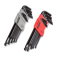 Product Image TEKTON Long Arm Ball End Hex Key Wrench Set, Inch/Metric, 26-