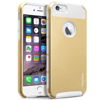 """Insten White TPU/Gold Hard Hybrid Cover Case For Apple iPhone 6 6S 4.7"""" 4.7 Inches (2-Piece Shockproof Dual Layer Style)"""