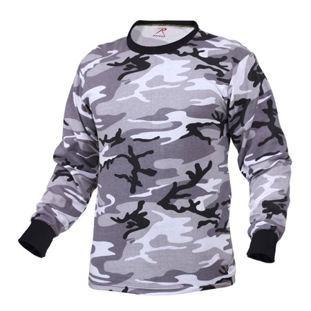 City Shirts (Rothco Long Sleeve Camouflage T-Shirt, City)