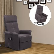 HOMCOM Faux Leather Three Position Lift Chair Recliner With Remote - Brown