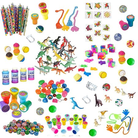 168 Pc Party Favor Toys For Kids - Bulk Party Favors For Boys And Girls - Awesome Toys For Goody Bags, Pinata Fillers or Prizes For Birthday Party Game - Halloween Birthday Party Games For Kids