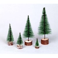"Vickerman Artificial Christmas Tree 7"" Frosted Green Village Tree"