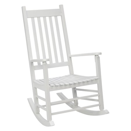 Jack Post Knollwood Mission Rocker in White Adult Princess Rocking Chair