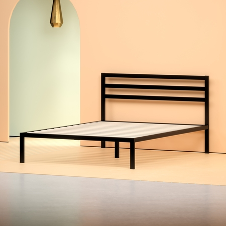 Metallic Twin Size Bed (Zinus Mia Modern Studio 14